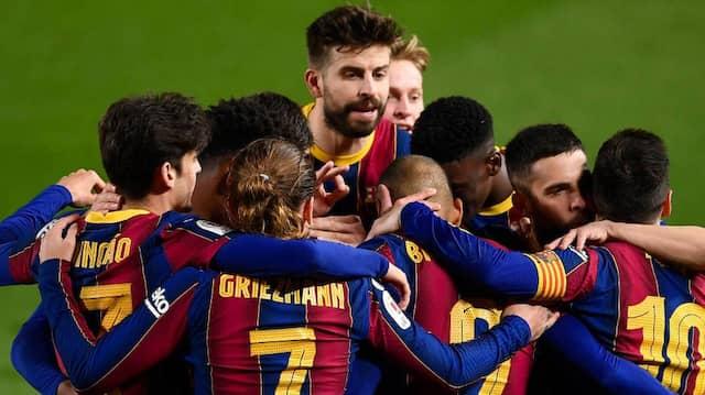 Jubel beim FC Barcelona. Die Katalanen setzten sich in der Verlängerung durch.