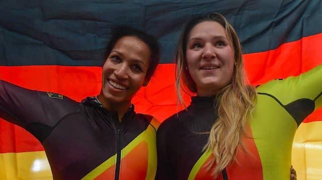 Mariama Jamanka und Lisa-Marie Buckwitz siegen im Zweierbob