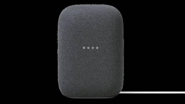 Wenn Googles smarter Lautsprecher zuhört, leuchten die vier LED.