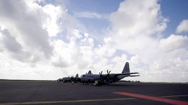 Die WC-130J ist eine speziell zur Wettererkundung modifizierte Variante der C-130 Hercules.