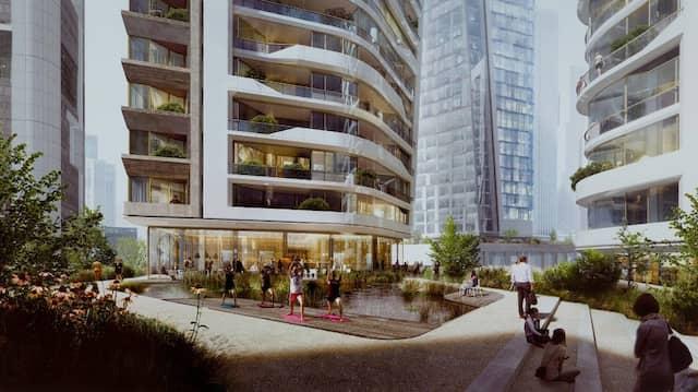 Weg von reinen Gewerbeflächen, hin zur Mischnutzung: Im neuen Projekt-Four-Areal sollen auch Cafés und Sportmöglichkeiten entstehen.