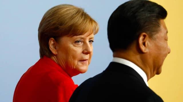 Andere Zeiten: Angela Merkel und Xi Jinping während des G-20-Treffens in Hamburg 2017.
