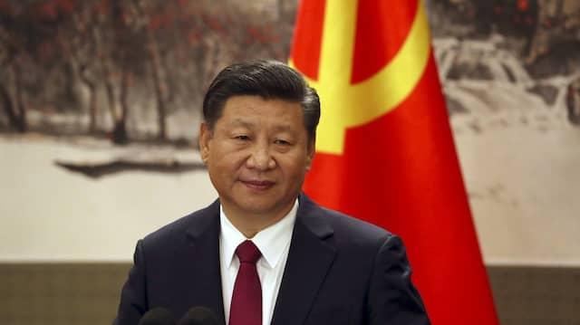 """Grußwort aus China: Xi Jinping will die """"Cybersouveränität"""" des Landes weiter verteidigen."""