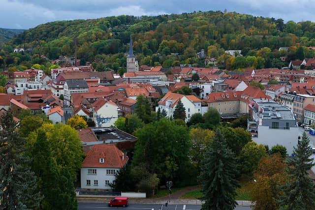 Arnstadt: Blick über Arnstadt vom Neideck-Turm