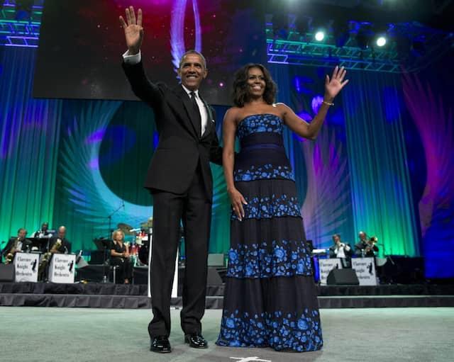 Auch Michelle und Barack Obama werden dieses Jahr bei SXSW auftreten. Unser Bild zeigt die Präsidentenehepaar im September 2015 beim Phoenix Award Dinner in Washington.